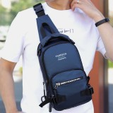 Men Fashion Waterproof Light Weight Sports Chest Bag Backpack With USB Charging Port