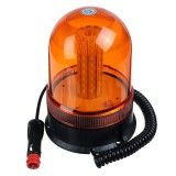 DC12-24V 80LEDs Magnetic Roof Rotating Flash Amber Beacon Strobe Tractor Warning Signal Light