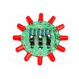 3pcs DIY Electronic Kit Set LED Round Water Light Production Kit for Skill Training Soldering Practice Parts