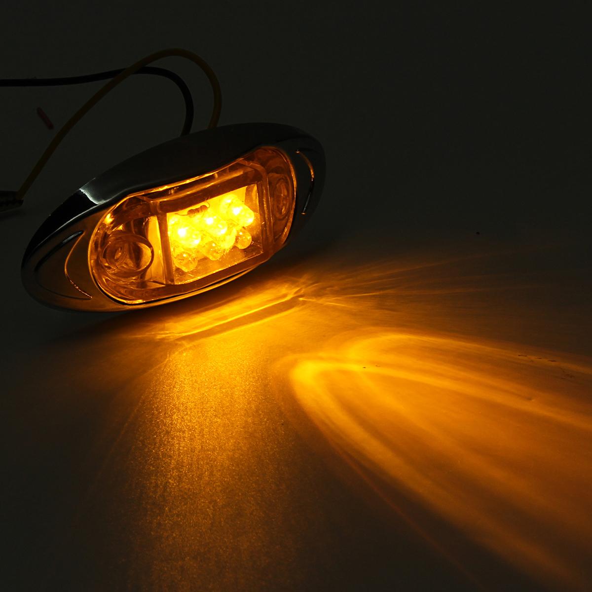 12V 12 LED Side Marker Marker Lights Red/Yellow/White for Truck Chassis Caravan Trailer