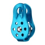 20KN Aluminum Alloy Fixed Rope Climbing Pulley Outdoor Camping Hiking Escape Rescue Tool