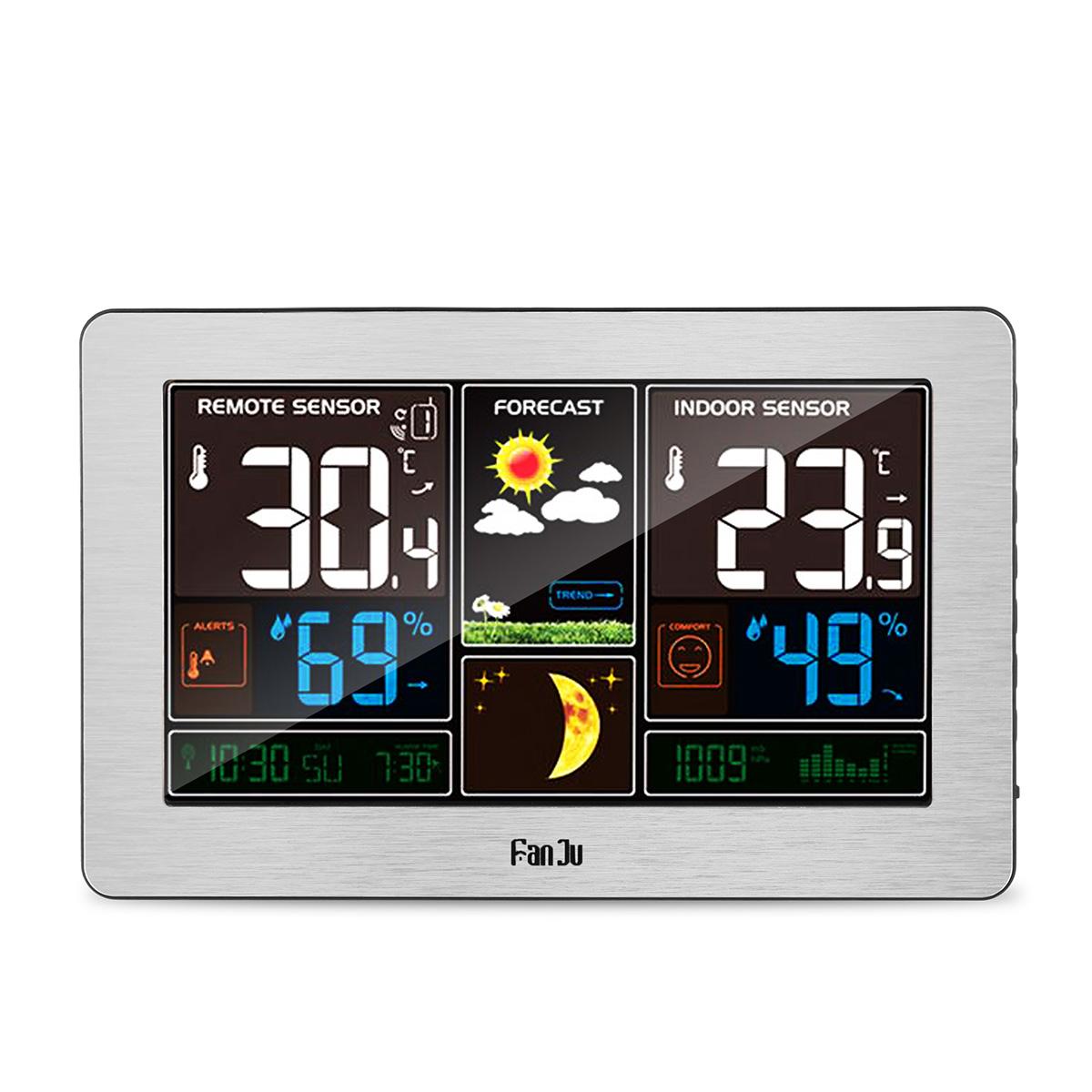 LCD Display Weather Station Alarm Clock Wireless Sensor Hygrometer Thermometer