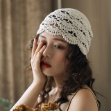Hand-crocheted Beanie Hat Retro Literary Casual Turban Hat