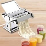 Fresh Pasta Maker Roller Machine Dough Making Noodle Maker Home Stainless Steel Tools Kit Black Handle
