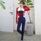 Women Diving Jacket Suit With Zipper Snorkeling Wetsuit Watersport Sunscreen Swimming Jumpsuit Scuba