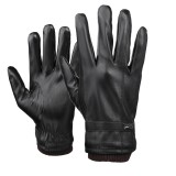 Mens Touch Screen Gloves PU Leather Winter Warm Waterproof Fleece Lined Thermal