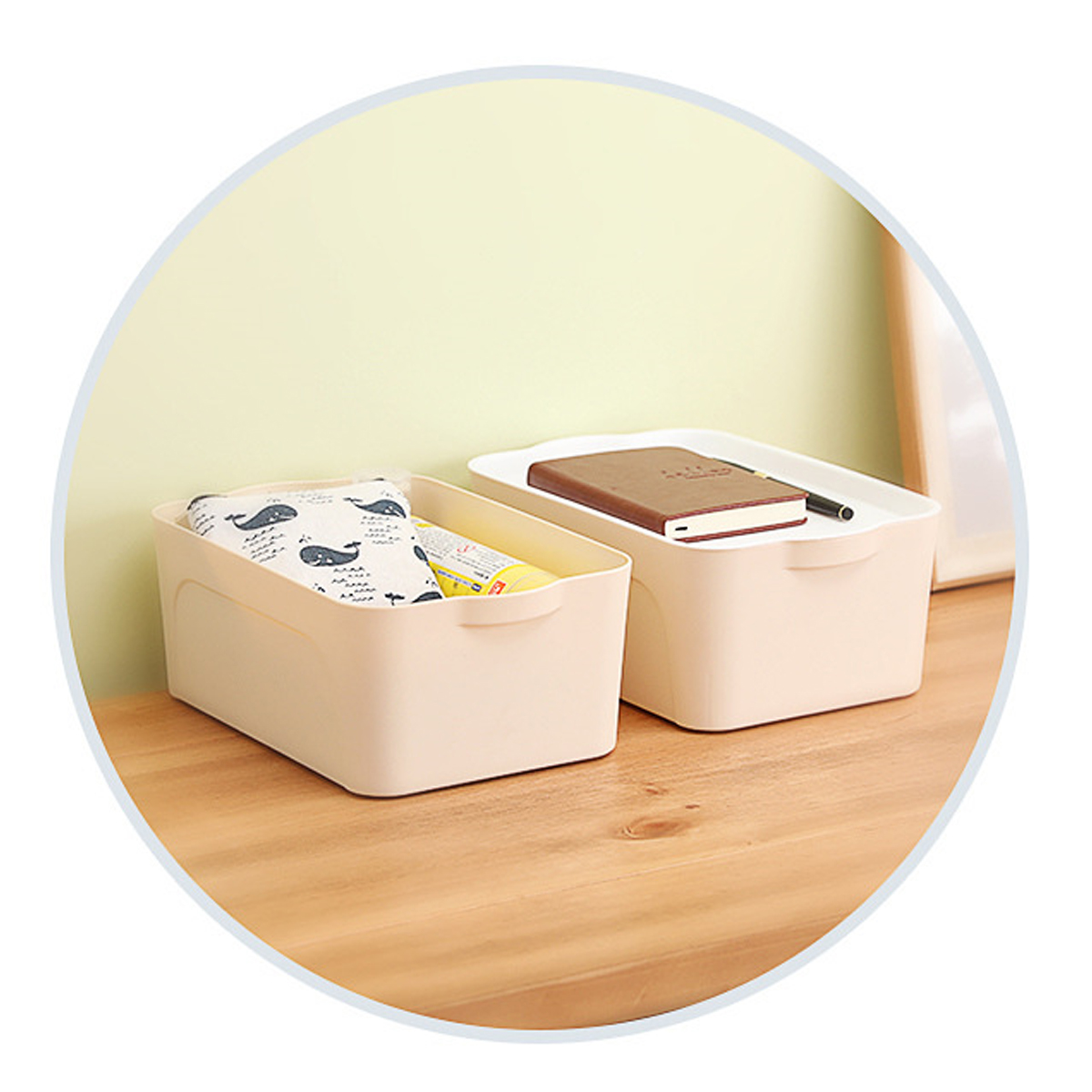 S/M/L Size Multi-functional Storage Box Plastic Storage Baskets Clothing Toys Sundries Containers Desktop Books Files Documents Organizer
