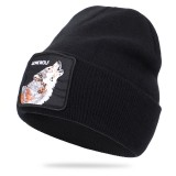Wool Hat Animal Pattern Knitted Hat Skull Cap Beanie