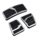 3Pcs Manual MT Clutch Brake Pedals Stainless Steel Metal Accelerator Universal For Mitsubishi