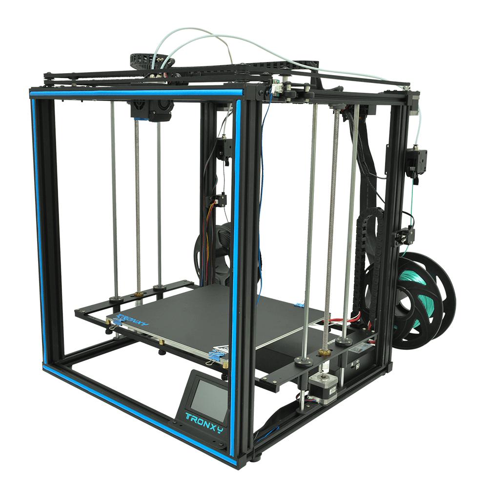 TRONXY X5SA-2E Dual Colors 3D Printer Kit CoreXY with Dual Titan Extruder Dual Z axis 300*300*400mm Printing Size TMC2225 Ultra Quiet