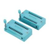 2pcs IC Lock Seat Zif Socket Test Universal zif Sockets 24Pin Wide