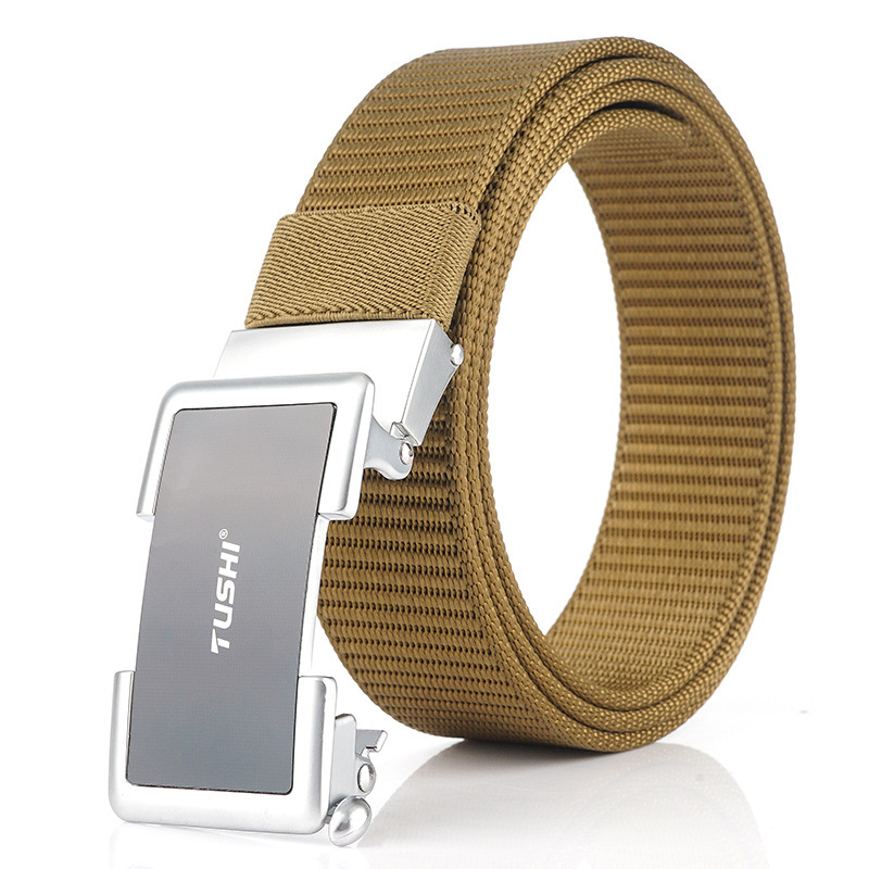 TUSHI 125cm Quick Release Metal Buckle Tactical Belt Business belt Nylon Belt Waist Belt