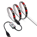 DC5V Waterproof 1M 2M 3M 4M 5M 5050 SMD USB RGB LED Strip Light bluetooth Control Bar TV Computer Backlighting