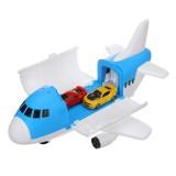 Storage Transport Aircraft Model Inertia Diecast Model Car Set Toy for Children's Gift