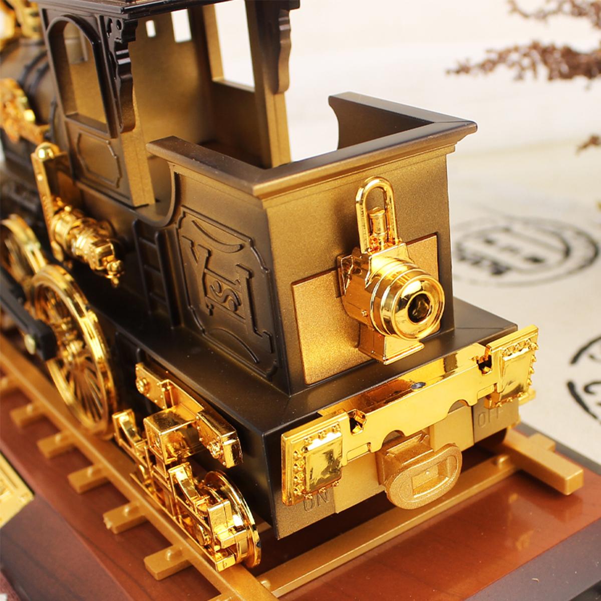 Vintage Classic Train Mechanical Music Box Home Decoration Christmas Valentine's