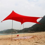 210x210x165cm Outdoor Camping Tent Canopy with Sandbag Anchors Lightweight Sunshade Protection Beach Shelters
