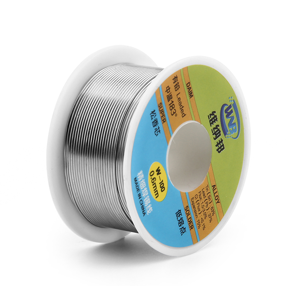 63//37 Tin Lead Rosin Core Flux Solder Wire for Electrical Solderding 0.8mm 300g
