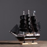 DIY Assembly Pirate Ship Assembly Model Wooden Sailing Boat Scale Decorations