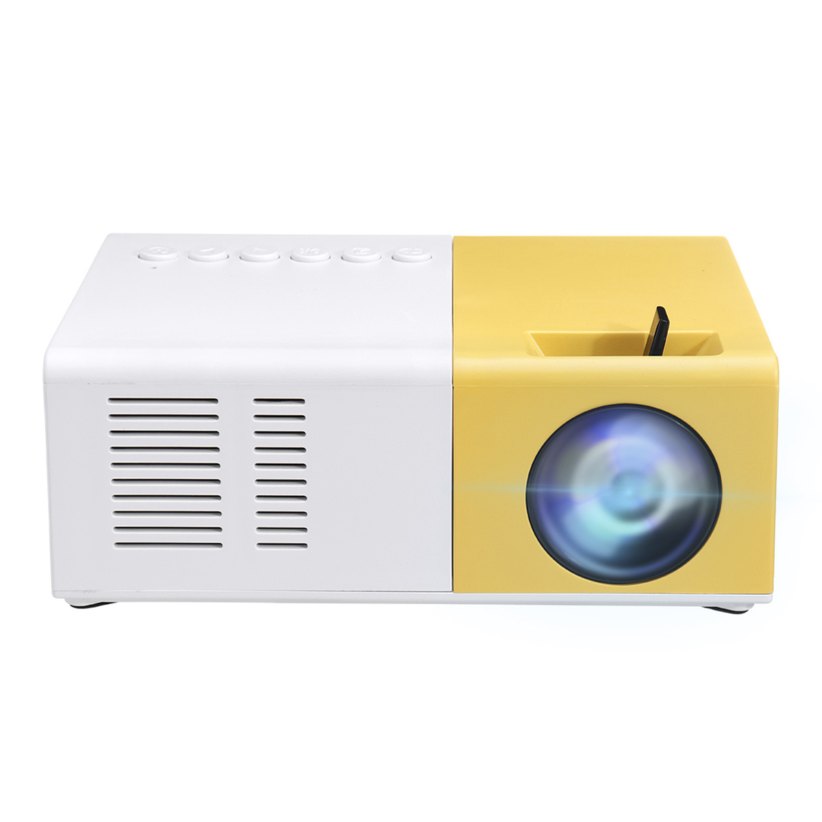 J9 LCD LED Projector 1200 Lumens 800:1 Support 1080P Portable Office Home Cinema