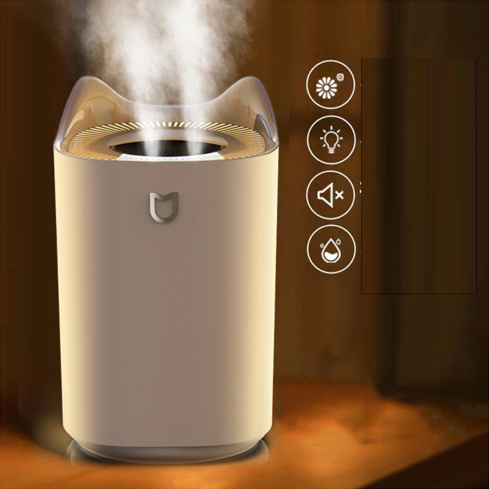 LyRay k7 Double Spout Humidifier USB 3.3L Large Capacity Desktop Household Mute Aroma Diffuser
