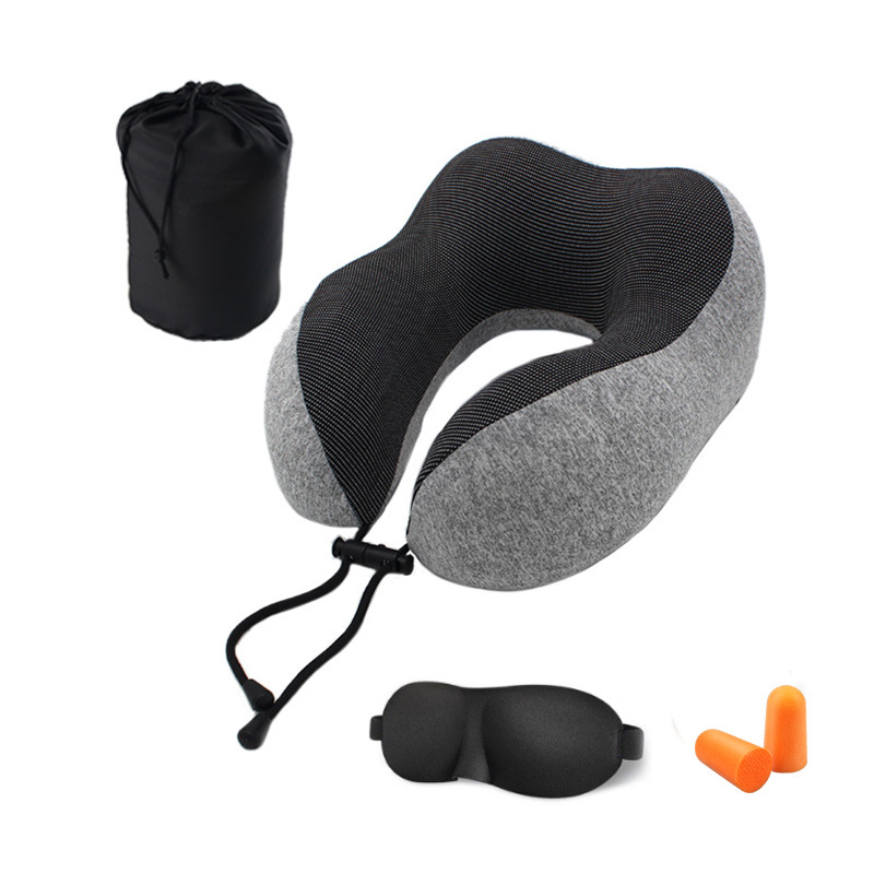 U-shaped Memory Cotton Pillow Magnetic Therapy Pillow Travel Camping Head Neck Support Cushion