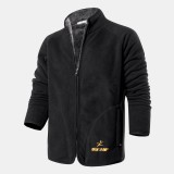 Mens Winter Stand Collar Zipper Single Breasted Thickened Casual Jacket