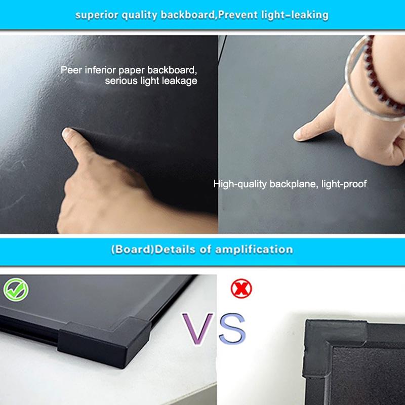 50x70cm Electronic Handwriting Fluorescent Board Glowing Advertising Blackboard