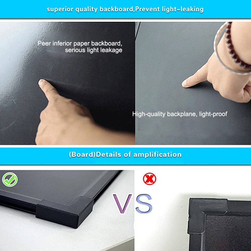 40x60cm Electronic Handwriting Fluorescent Board Glowing Advertising Blackboard