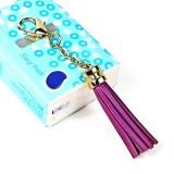 LS01 Tassel Zinc Alloy Keychain Car Hanging Bag Pendant (Purple)