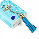 LS01 Tassel Zinc Alloy Keychain Car Hanging Bag Pendant (Baby Blue)