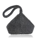 Women Fashion Banquet Party Diamond Handbag (Black)