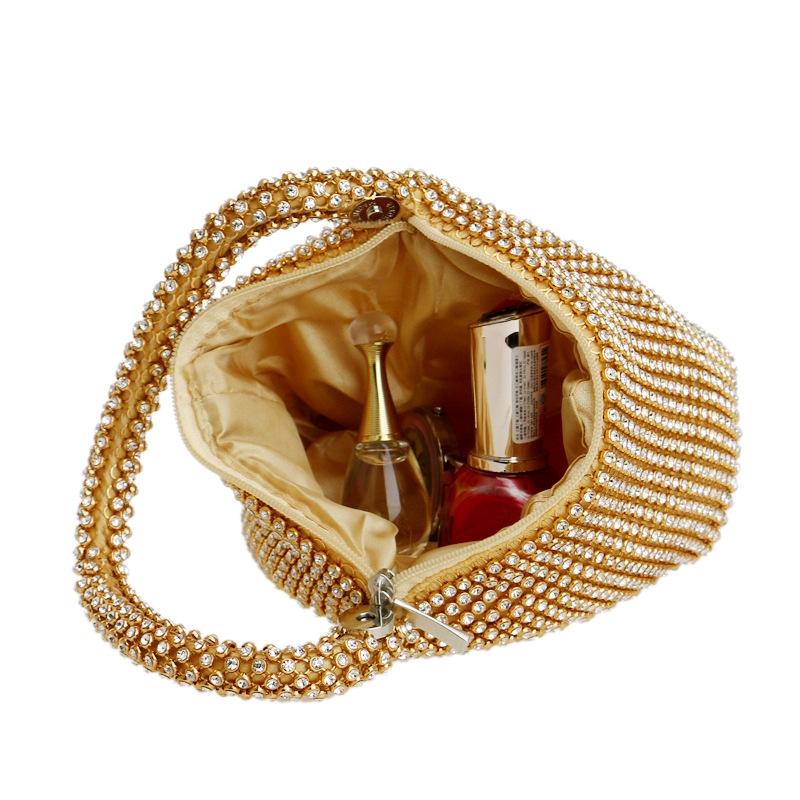 Women Fashion Banquet Party Diamond Handbag (Black)