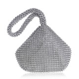 Women Fashion Banquet Party Diamond Handbag (Silver)