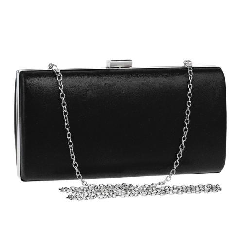 Women Fashion Banquet Party Square Handbag Single Shoulder Crossbody Bag (Black)