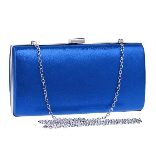 Women Fashion Banquet Party Square Handbag Single Shoulder Crossbody Bag (Blue)