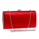 Women Fashion Banquet Party Square Handbag Single Shoulder Crossbody Bag (Red)