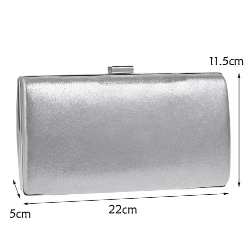 Women Fashion Banquet Party Square Handbag Single Shoulder Crossbody Bag (Silver)