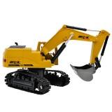 1: 24 2.4G Wireless Remote Vontrol Excavator Eight Channel Alloy Excavator Children Charging Remote Control Car Toy