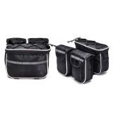 Bicycle Phone Bags Mountain Road Bike Front Head Bag Handlebar Bag (Black)