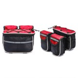 Bicycle Phone Bags Mountain Road Bike Front Head Bag Handlebar Bag (Red)
