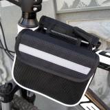 Bicycle Phone Bags Mountain Road Bike Front Head Bag Saddle Bag (Black)