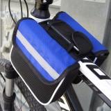 Bicycle Phone Bags Mountain Road Bike Front Head Bag Saddle Bag (Blue)