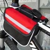 Bicycle Phone Bags Mountain Road Bike Front Head Bag Saddle Bag (Red)