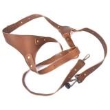 Quick Release Anti-Slip Shoulder Genuine Leather Harness Camera Strap with Metal Hook for SLR / DSLR Cameras (Right Shoulder)