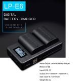 LP-E6 Digital Camera SLR Battery Digital LCD Charger for Canon Series