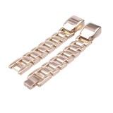 For Fitbit Alta HR Smart Watch Three Strains Stainless Steel Wrist Strap Watchband (Gold)