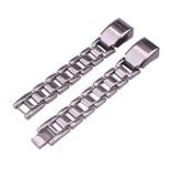 For Fitbit Alta HR Smart Watch Three Strains Stainless Steel Wrist Strap Watchband (Black)