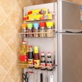 Multi-layer Fridge Storage Rack Side Shelf Sidewall Holder Multi-function Kitchen Organizer Household, Size: ABC