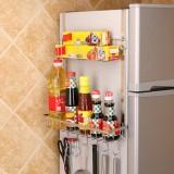 Multi-layer Fridge Storage Rack Side Shelf Sidewall Holder Multi-function Kitchen Organizer Household, Size: AC