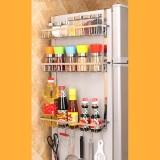 Multi-layer Fridge Storage Rack Side Shelf Sidewall Holder Multi-function Kitchen Organizer Household, Size: BBC